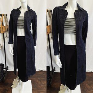 Vintage Y2K BEBE Denim Duster Coat
